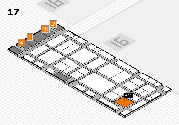 EuroShop 2017 hall map (Hall 17): stand A74