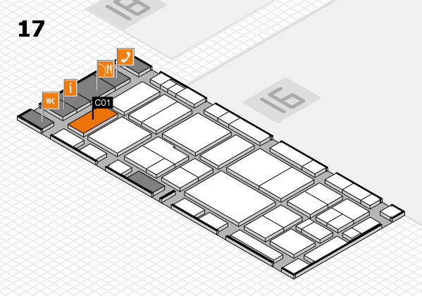 EuroShop 2017 hall map (Hall 17): stand C01