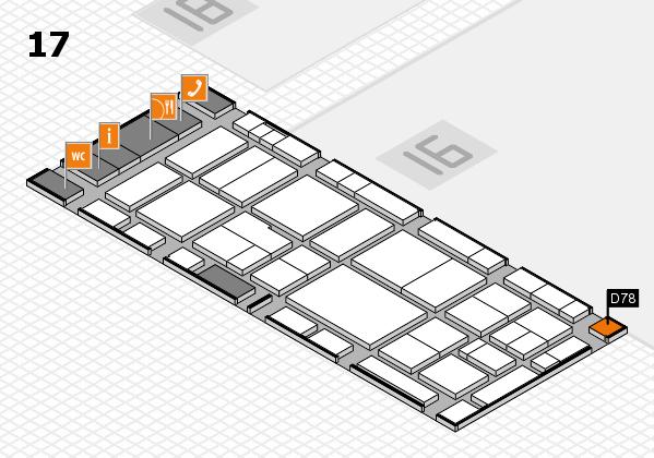EuroShop 2017 hall map (Hall 17): stand D78