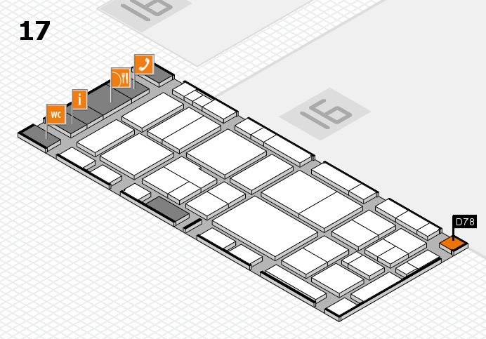 EuroShop 2017 hall map (Hall 17): stand D78