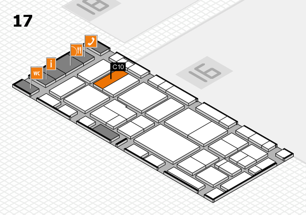 EuroShop 2017 hall map (Hall 17): stand C10