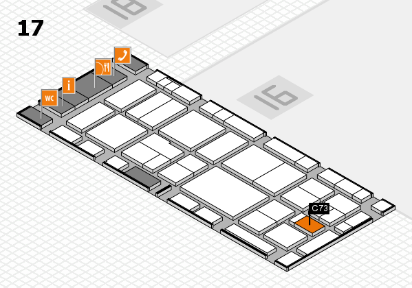 EuroShop 2017 hall map (Hall 17): stand C73