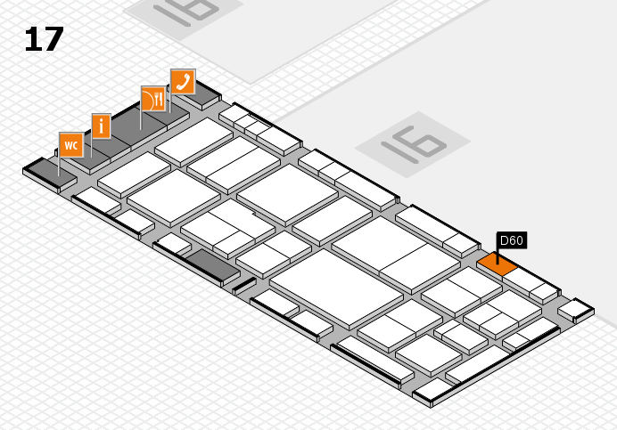 EuroShop 2017 hall map (Hall 17): stand D60