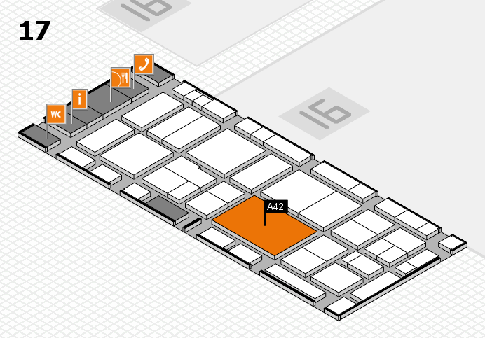 EuroShop 2017 hall map (Hall 17): stand A42