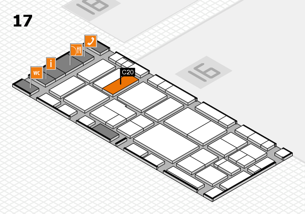 EuroShop 2017 hall map (Hall 17): stand C20
