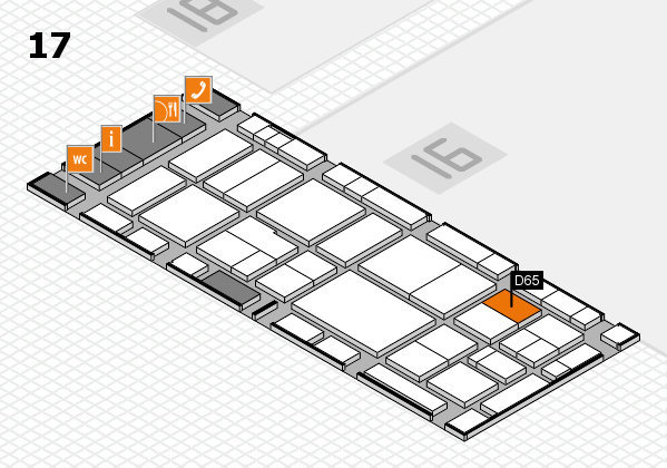 EuroShop 2017 hall map (Hall 17): stand D65
