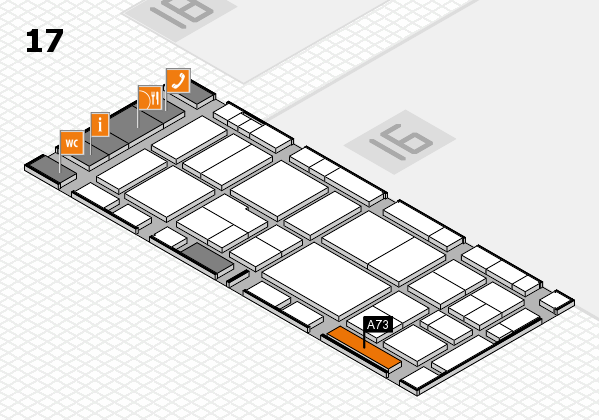EuroShop 2017 hall map (Hall 17): stand A73