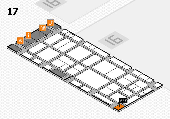 EuroShop 2017 hall map (Hall 17): stand A77