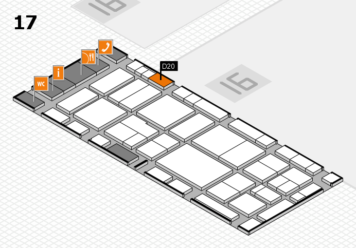 EuroShop 2017 hall map (Hall 17): stand D20