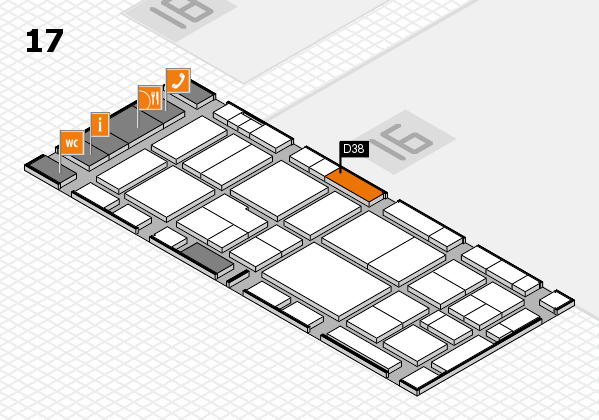 EuroShop 2017 hall map (Hall 17): stand D38