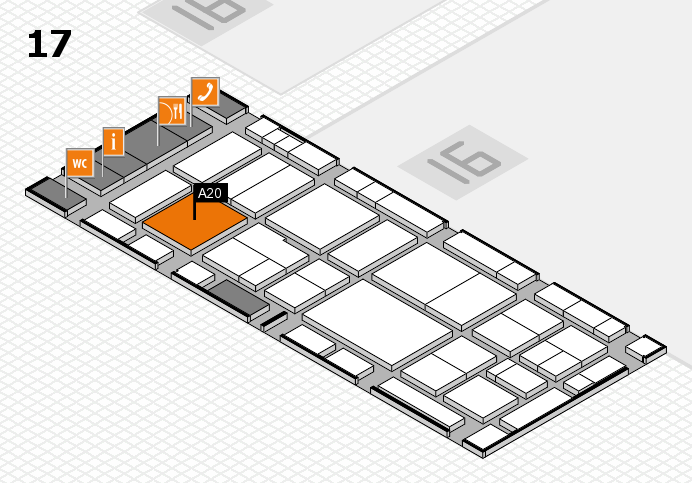 EuroShop 2017 hall map (Hall 17): stand A20