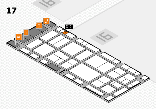 EuroShop 2017 hall map (Hall 17): stand D10