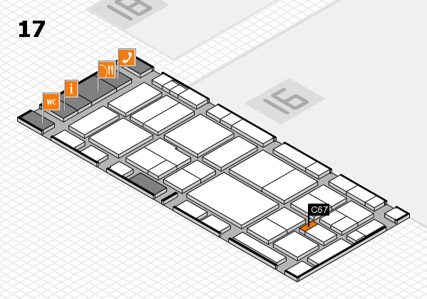 EuroShop 2017 hall map (Hall 17): stand C67