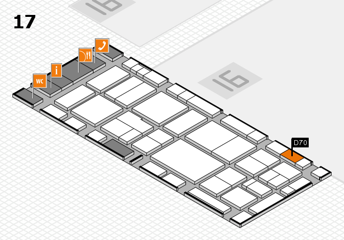 EuroShop 2017 hall map (Hall 17): stand D70