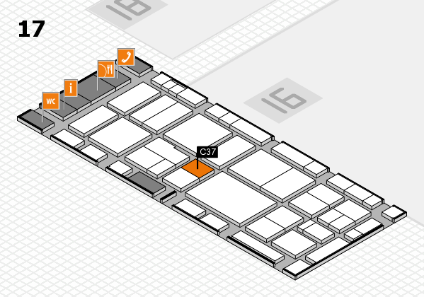 EuroShop 2017 hall map (Hall 17): stand C37