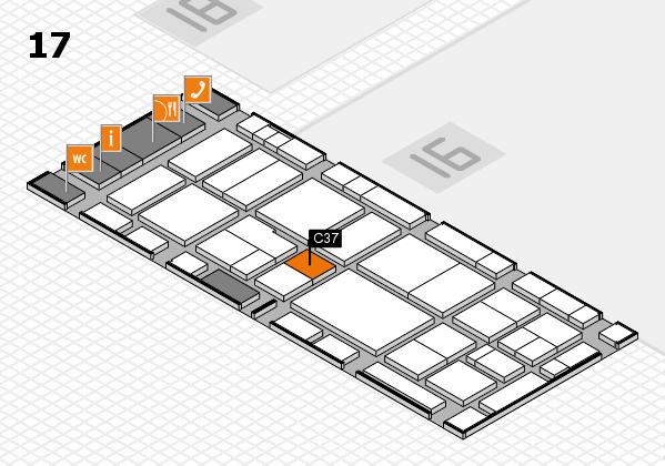 EuroShop 2017 hall map (Hall 17): stand C37