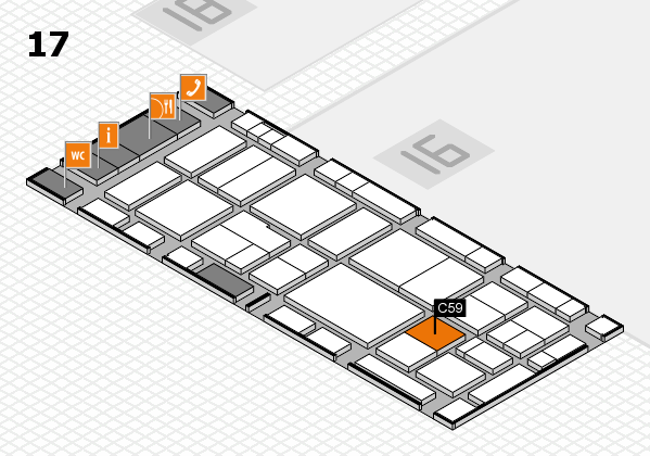 EuroShop 2017 hall map (Hall 17): stand C59
