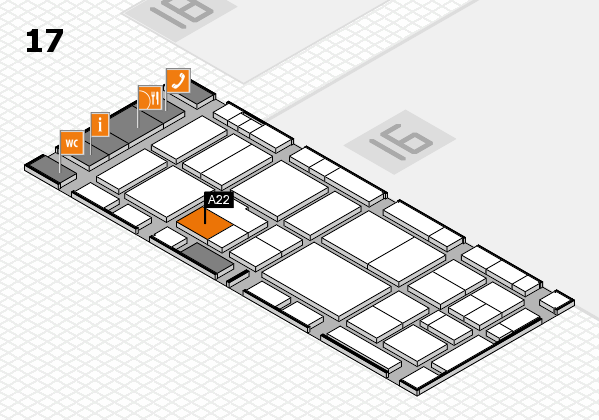 EuroShop 2017 hall map (Hall 17): stand A22