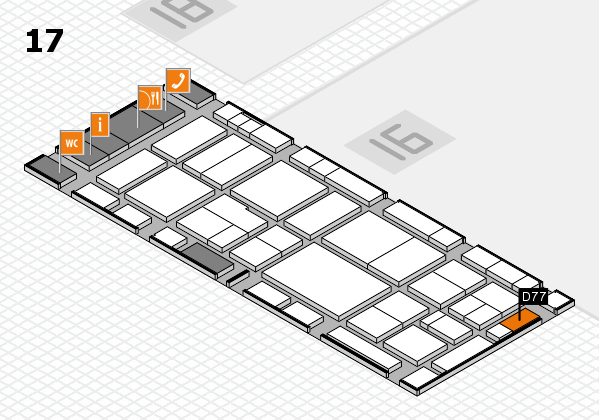 EuroShop 2017 hall map (Hall 17): stand D77