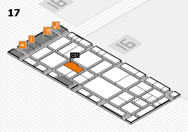 EuroShop 2017 hall map (Hall 17): stand C21