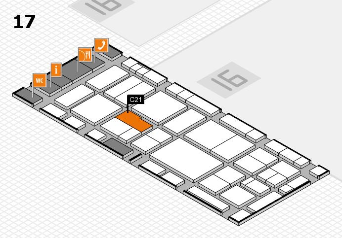 EuroShop 2017 hall map (Hall 17): stand C21