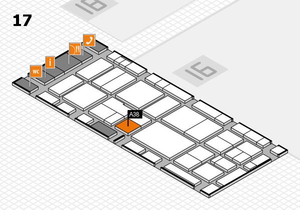 EuroShop 2017 hall map (Hall 17): stand A38
