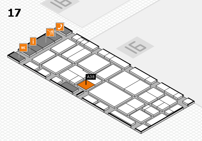 EuroShop 2017 hall map (Hall 17): stand A38