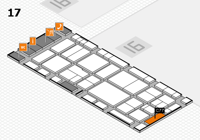 EuroShop 2017 hall map (Hall 17): stand C77