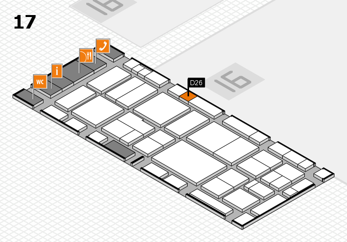 EuroShop 2017 hall map (Hall 17): stand D26