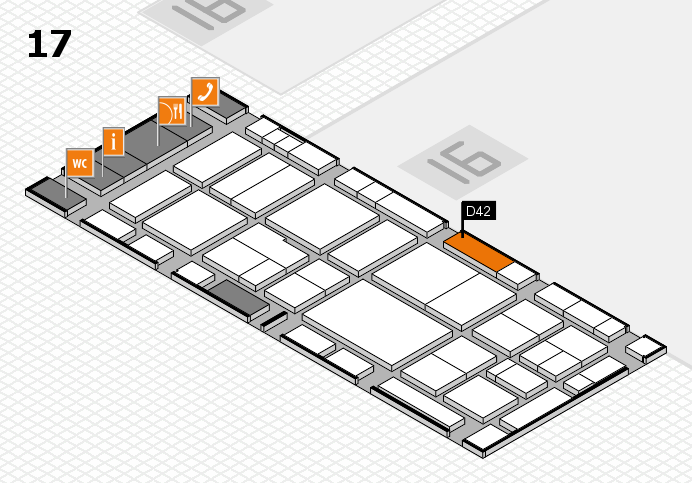 EuroShop 2017 hall map (Hall 17): stand D42
