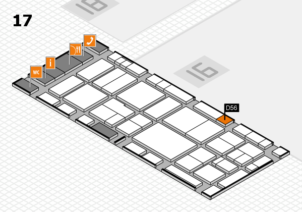 EuroShop 2017 hall map (Hall 17): stand D56
