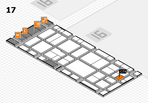 EuroShop 2017 hall map (Hall 17): stand C74