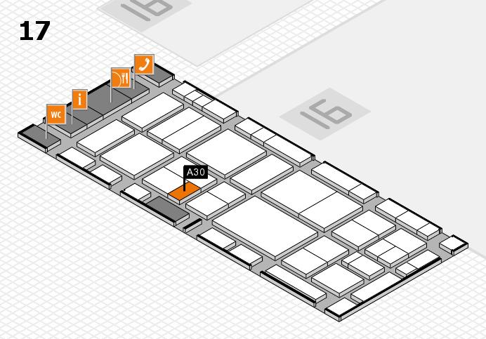 EuroShop 2017 hall map (Hall 17): stand A30