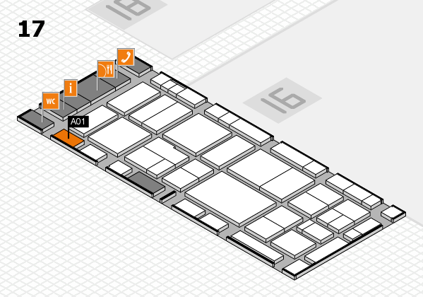 EuroShop 2017 hall map (Hall 17): stand A01