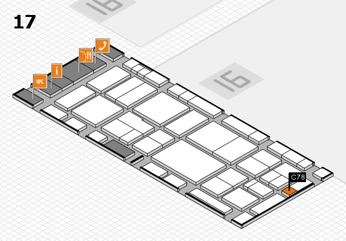 EuroShop 2017 hall map (Hall 17): stand C78