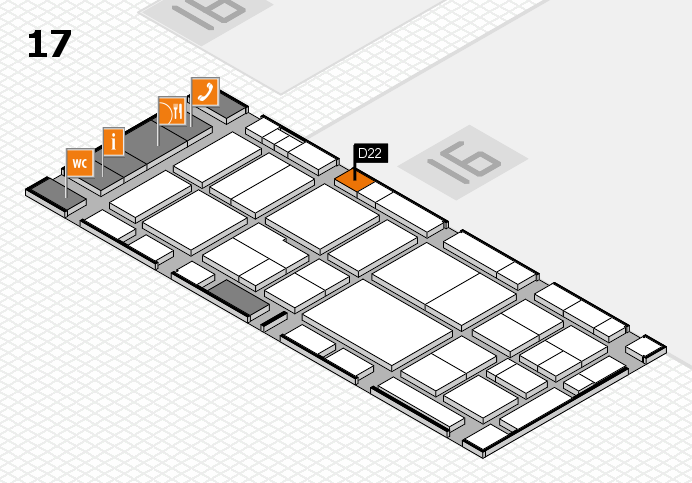 EuroShop 2017 hall map (Hall 17): stand D22