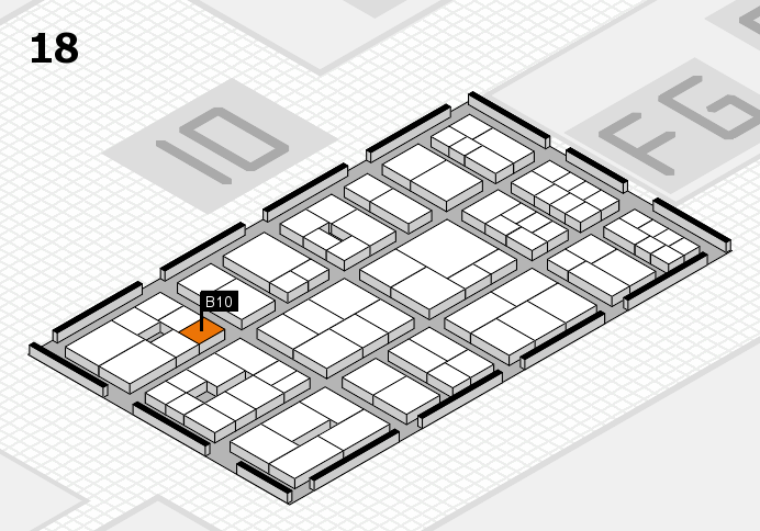 EuroShop 2017 hall map (Hall 18): stand B10