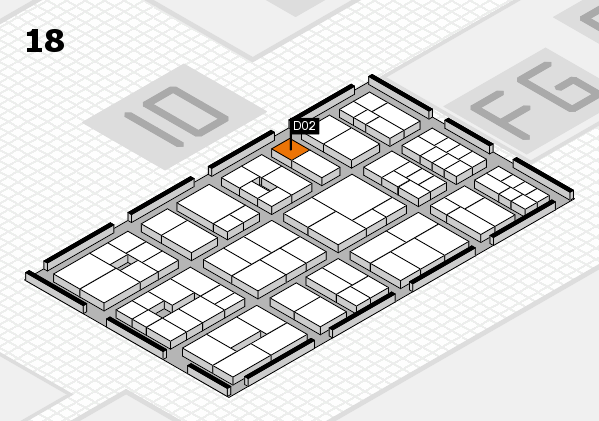 EuroShop 2017 hall map (Hall 18): stand D02
