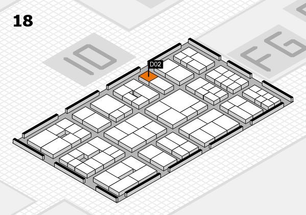 EuroShop 2017 hall map (Hall 18): stand D02