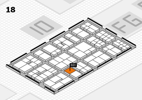 EuroShop 2017 hall map (Hall 18): stand B23