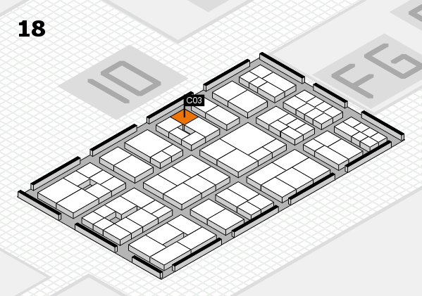 EuroShop 2017 hall map (Hall 18): stand C03