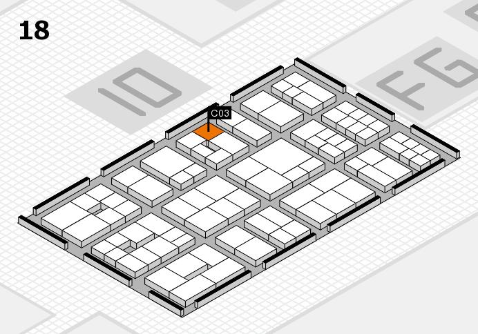 EuroShop 2017 hall map (Hall 18): stand C03