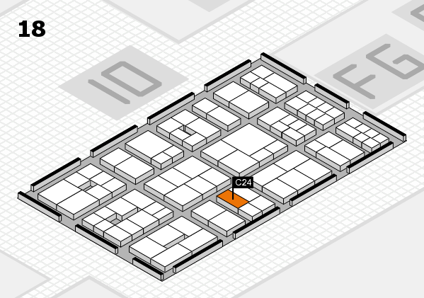 EuroShop 2017 hall map (Hall 18): stand C24