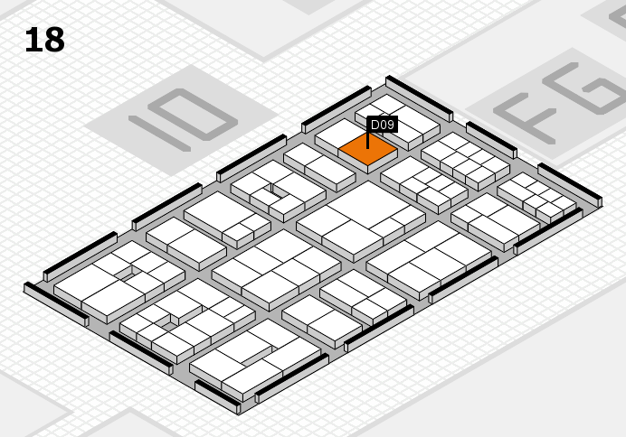EuroShop 2017 hall map (Hall 18): stand D09