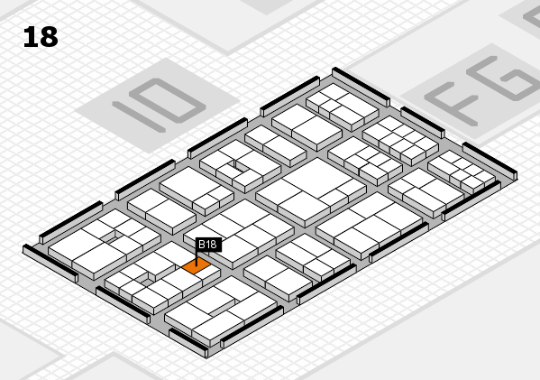 EuroShop 2017 hall map (Hall 18): stand B18