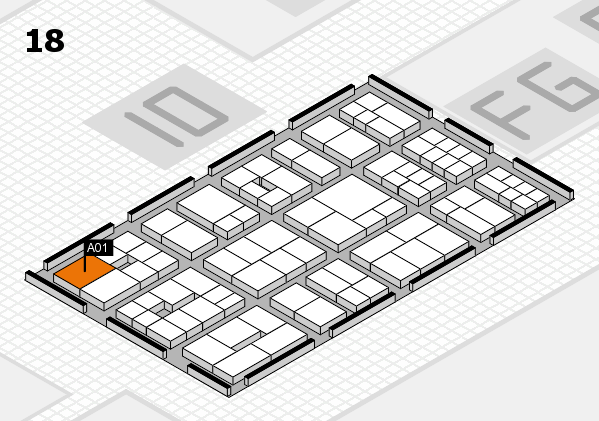 EuroShop 2017 hall map (Hall 18): stand A01