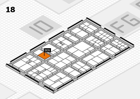 EuroShop 2017 hall map (Hall 18): stand B09