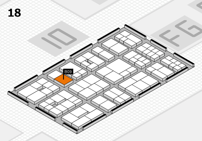 EuroShop 2017 hall map (Hall 18): stand B09