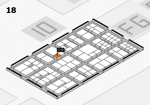 EuroShop 2017 hall map (Hall 18): stand C10