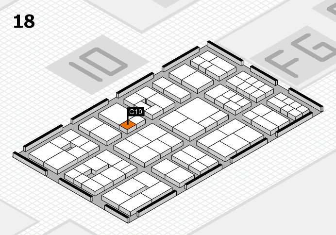 EuroShop 2017 hall map (Hall 18): stand C10